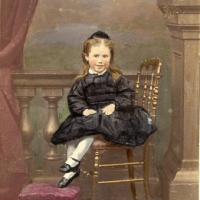 Mary CLAUDET enfant Fille dAntoine CLAUDET Tirage rehaussee couleur