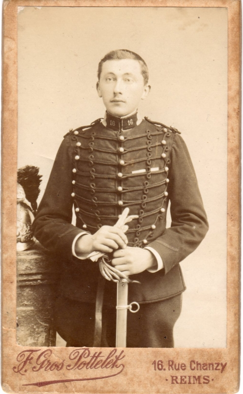 Léon Cordonnier, 16e régiment de dragons.